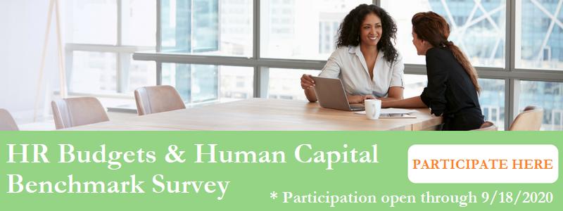 HR Budgets & Human Capital Benchmark Survey Employers Group
